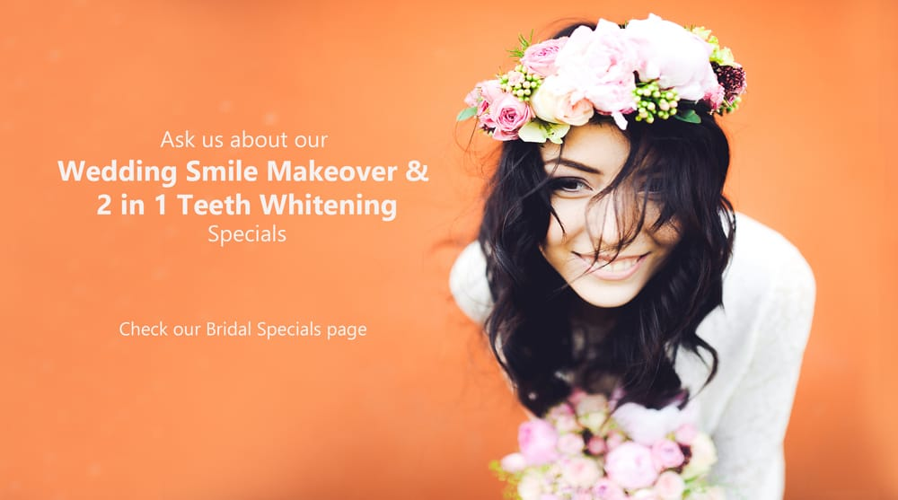 BRIDE AND GROOM WEDDING SPECIALS AND PROMO SMILE MAKEOVER